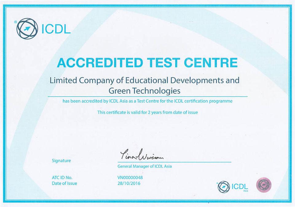 Thông báo hỗ trợ tuyển sinh Đào tạo chứng chỉ tin học Quốc tế ICDL